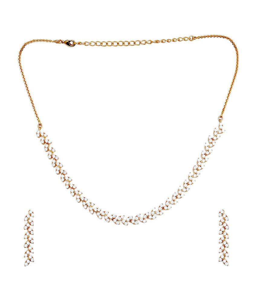 Kushal's Gold Alloy Necklace Set