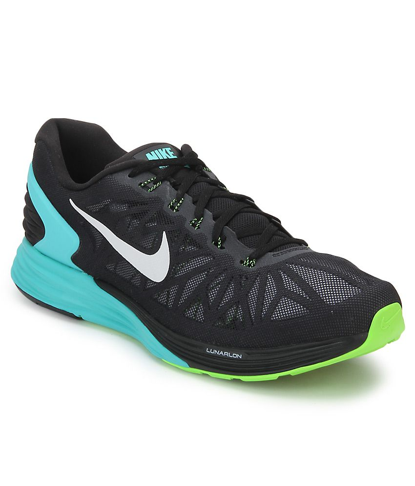 200552dd8957e Nike Lunarglide 6 Black Sports Shoes - Buy Nike Lunarglide 6 Black Sports  Shoes Online at Best Prices in India on Snapdeal