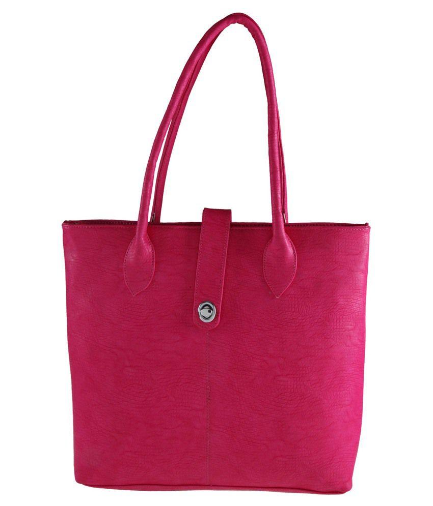 RM Enterprise Leather Shoulder Bag-Pink