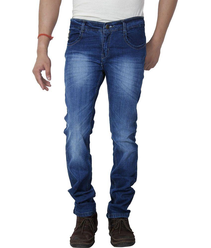 Dhanlaxmi Blue Regular Fit Jeans Set Of 6