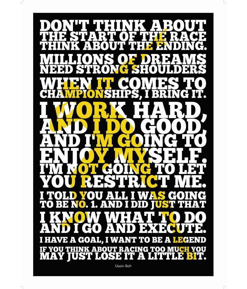 Lab No 4 Usain Bolt Sport Inspirational Quotes Poster Buy Lab No