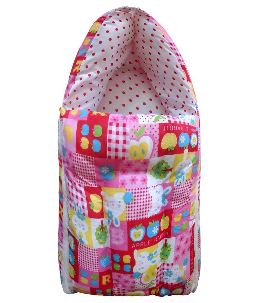 Luk Luck Pink Baby Nest 3 In 1 Bed Sleeping Bag