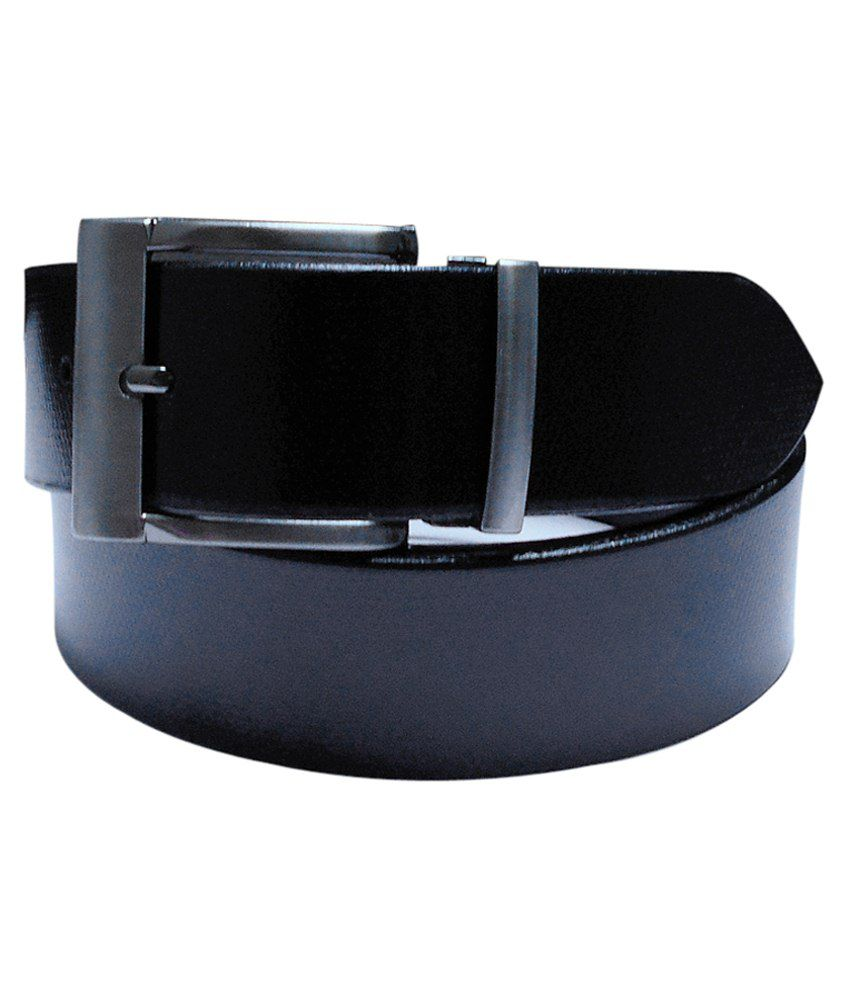 Navie Black Leather Belt