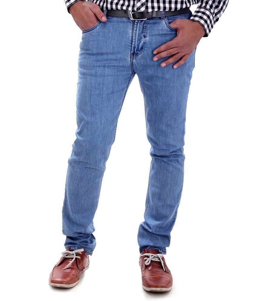 Swami Knit Blue Slim Fit Jeans