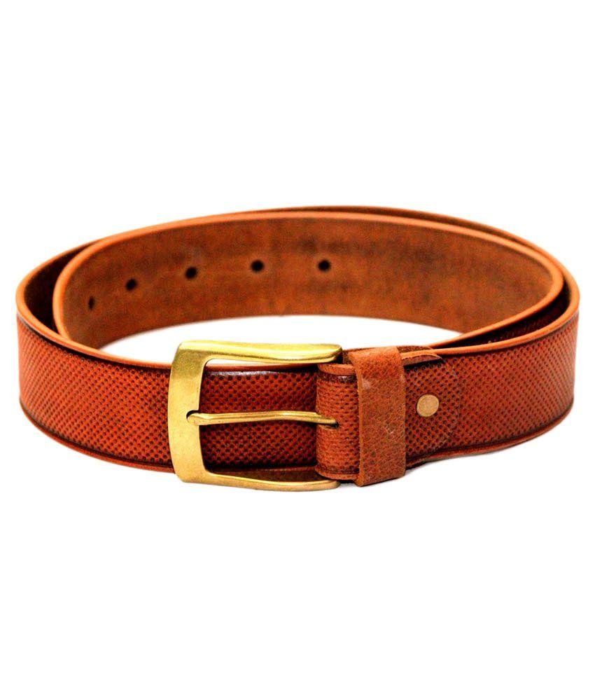 Tops Tan Leather Formal Belt