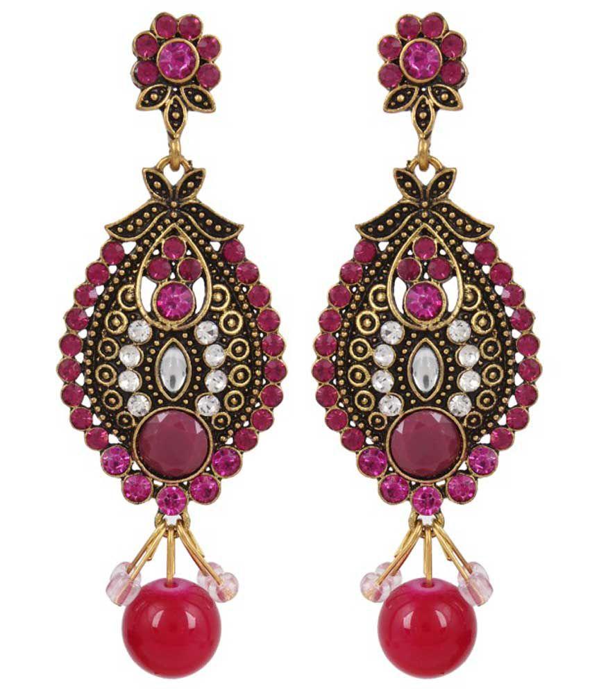 Aldeco Creations Oval Bengali Drop Earrings