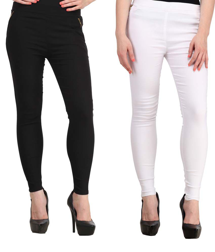Fashion Arcade Cotton Jeggings - Black