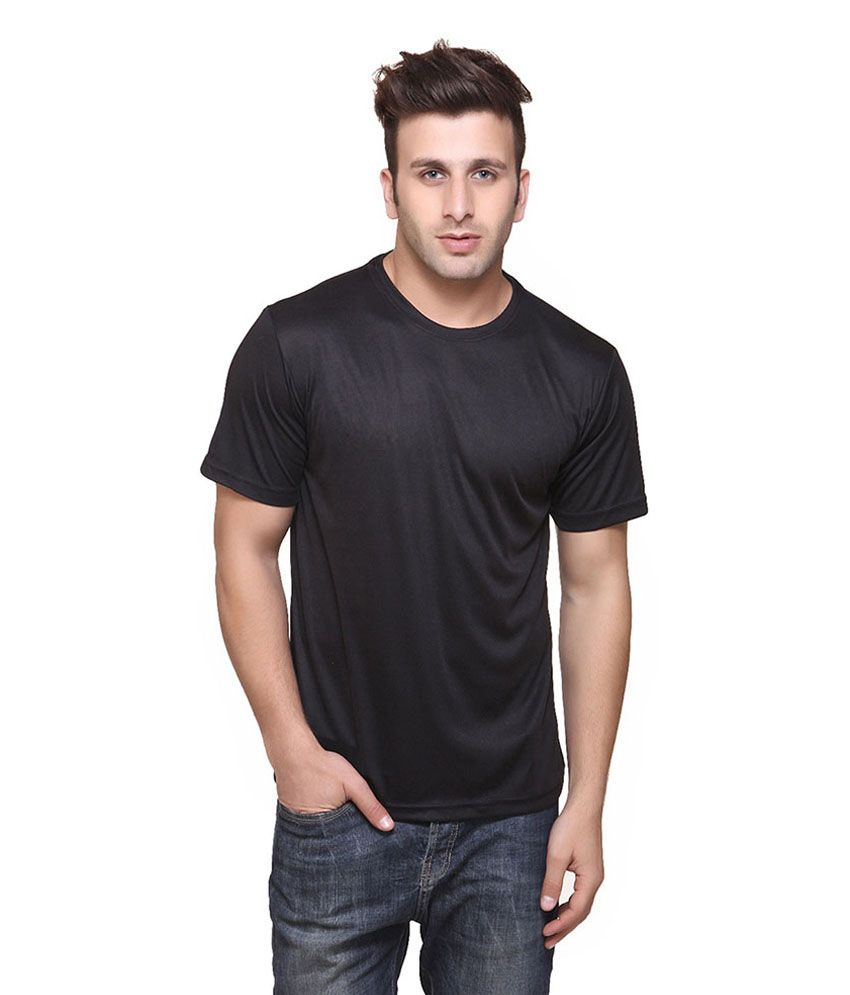 Funky Guys Black Cotton Blend T-shirt