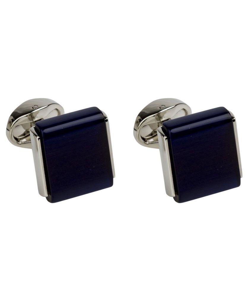 Gildermen Blue Metal Stone Cufflink For Men