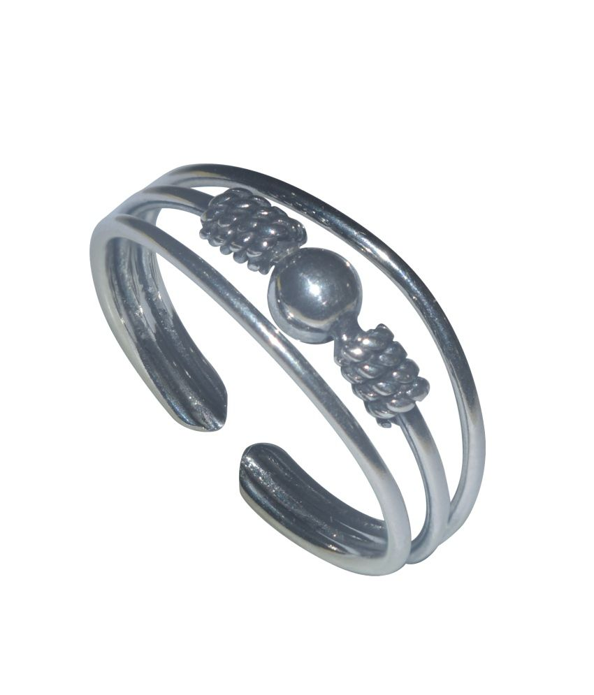 Kataria Jewellers Adjustable Ring in 92.5 BIS Hallmarked Sterling Silver