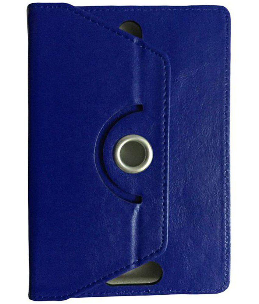 Kolorfame Flip Cover For iBall Slide 6095 D20 - Blue