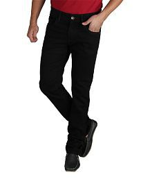 Masterly Weft Black Cotton Blend Jeans