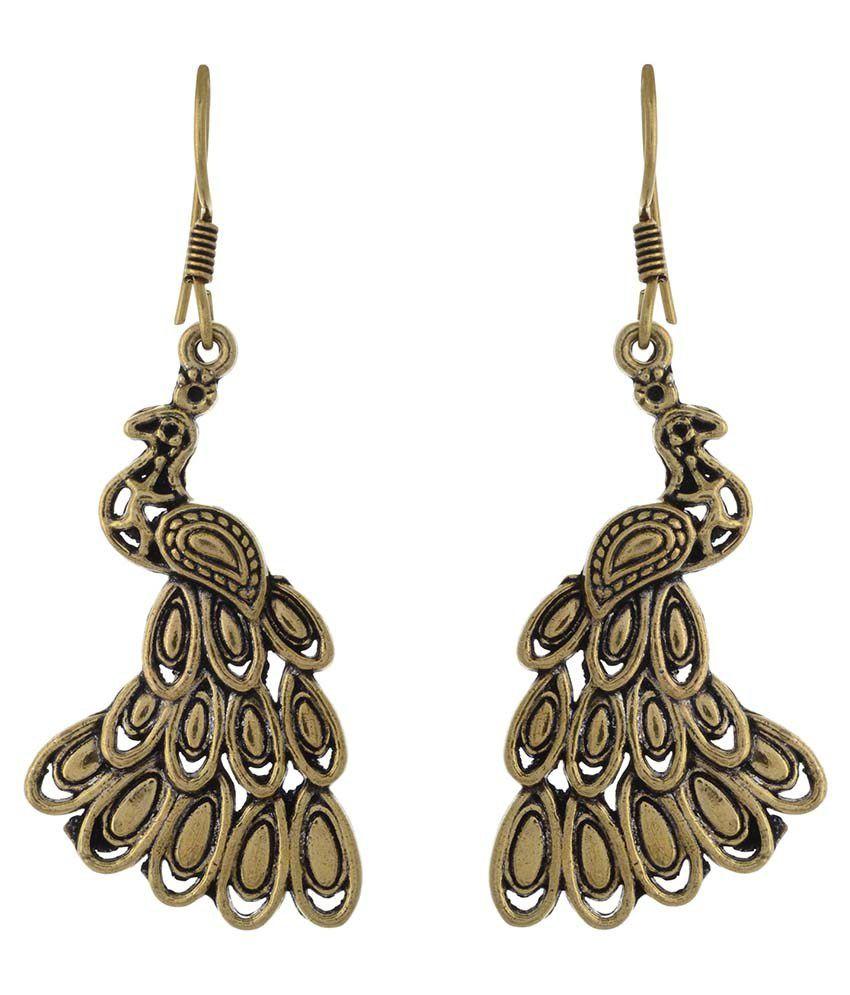 Charu Fashionz Golden Alloy Dangle and Drop Earring