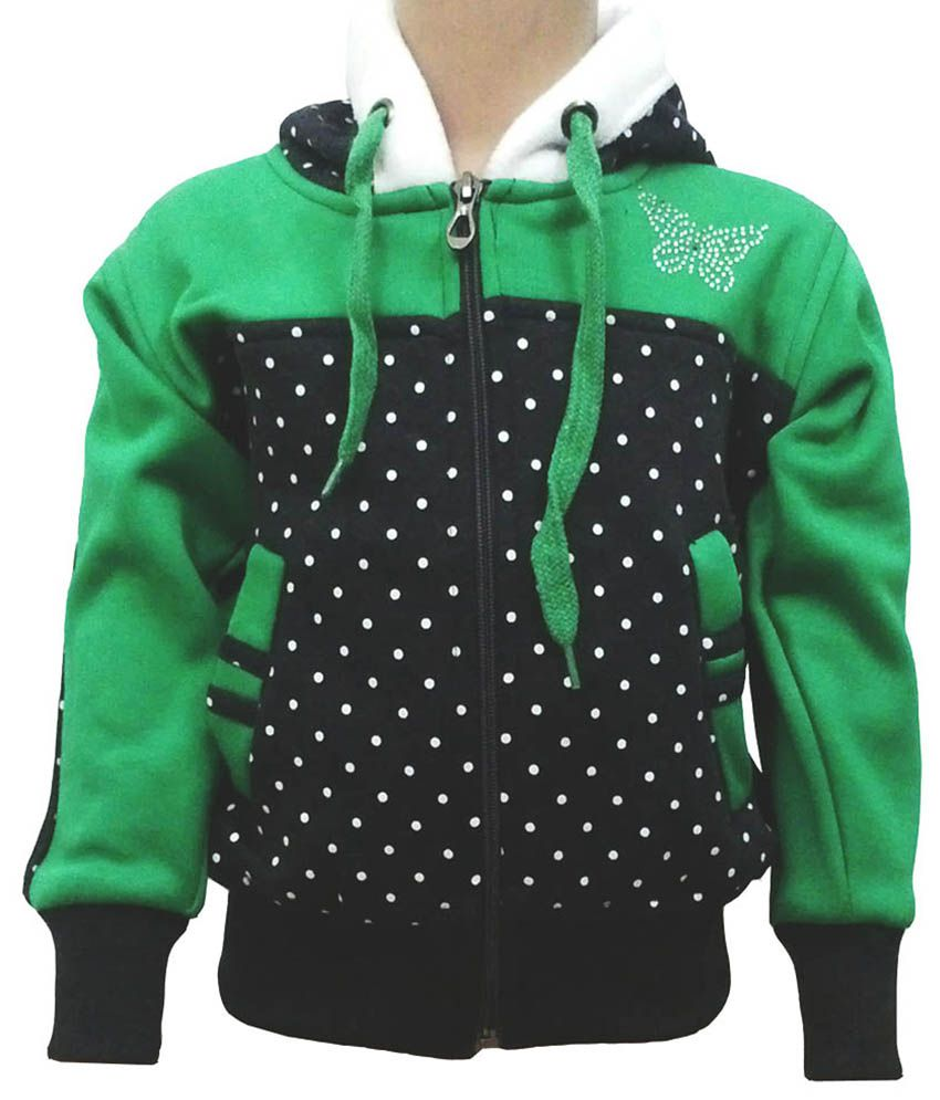 Come In Kids Green Fleece Sweatshirt