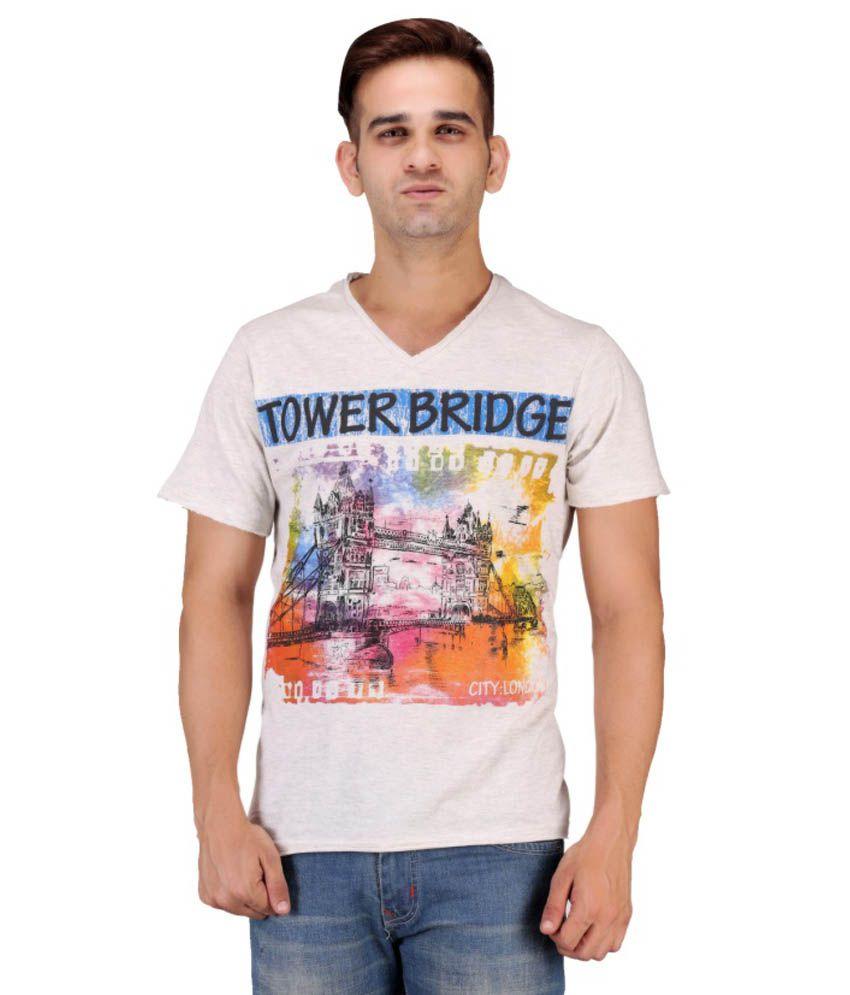 Keywest White Cotton T Shirt