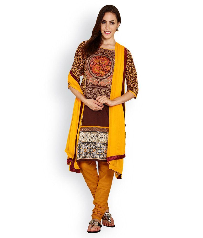 Ethnicqueen Maroon Cotton Stitched Suit