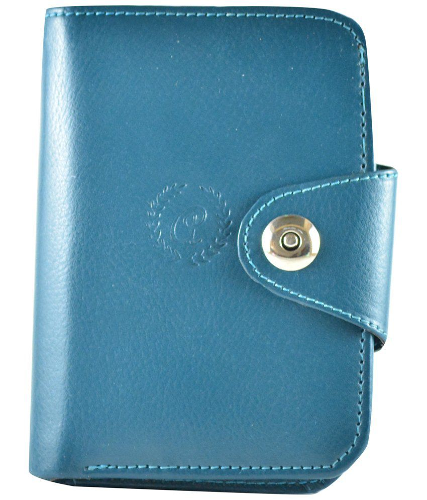 Modish Sapphire Blue Casual Long Wallet