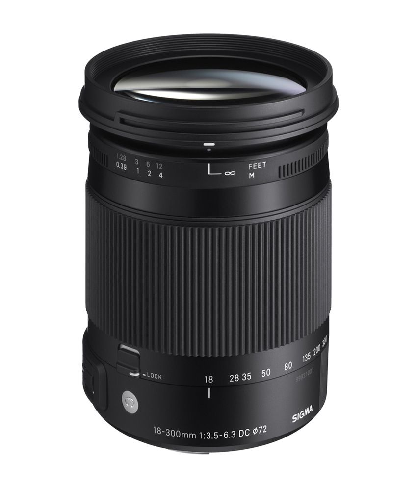 Sigma 18-300mm f/3.5-6.3 Macro DC OS HSM Contemporary Lens for Canon
