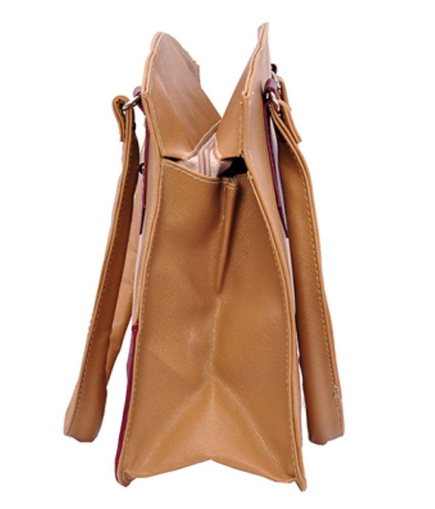 8e34ebbdc6b2 Mk Bag Brown Shoulder Bag - Buy Mk Bag Brown Shoulder Bag Online at ...