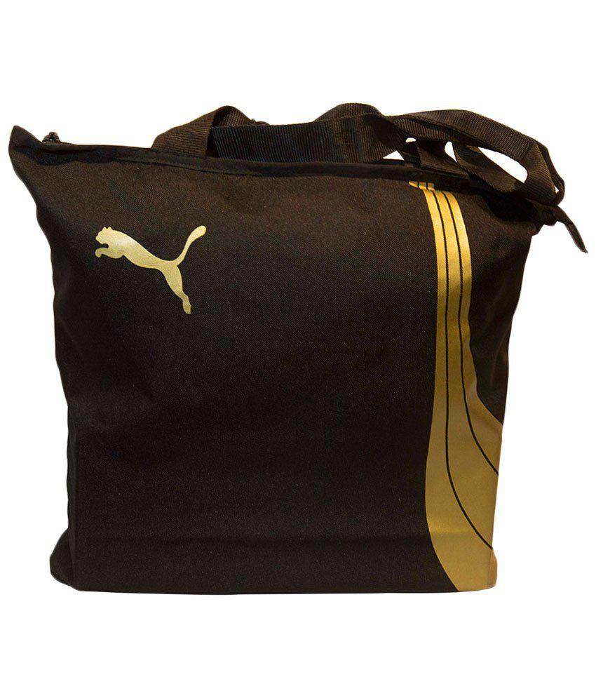 Puma Black & White Shopper Bag