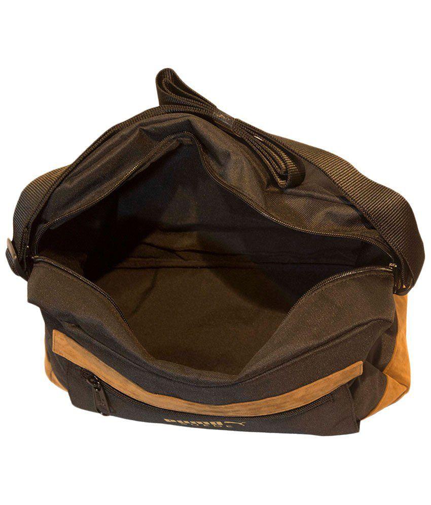 d25ac841fb Puma Black & Yellow Suede Messenger Bag - Buy Puma Black & Yellow ...