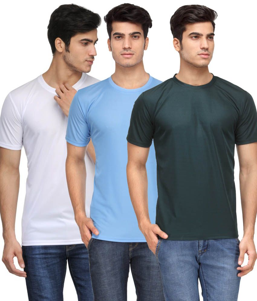 Rico Sordi Multicolour Polyester T-shirt - Pack Of 3