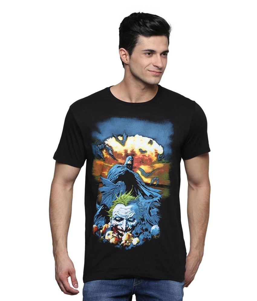 Dc Comics Black Cotton T-Shirt