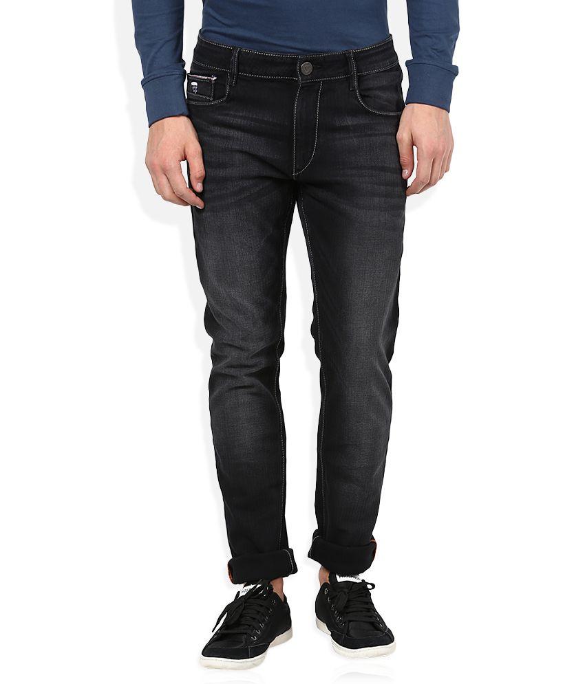 John Players Black Skinny Fit Jeans