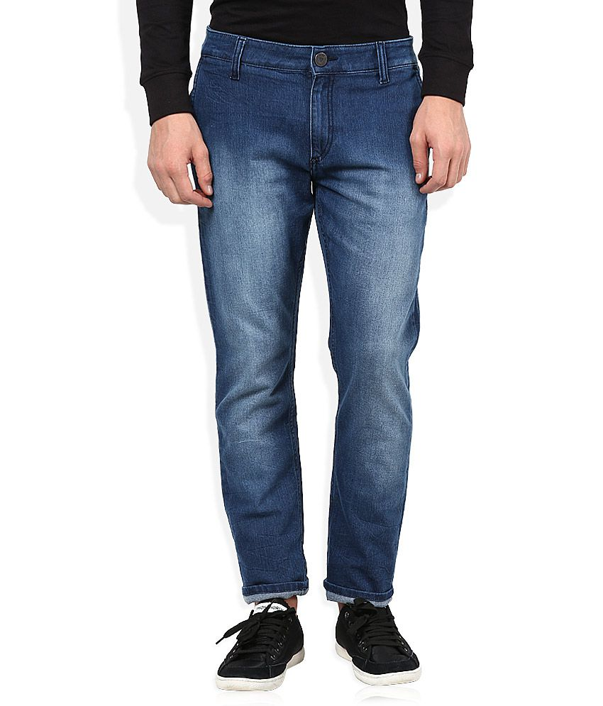John Players Blue Medium Wash Regular Fit Jeans