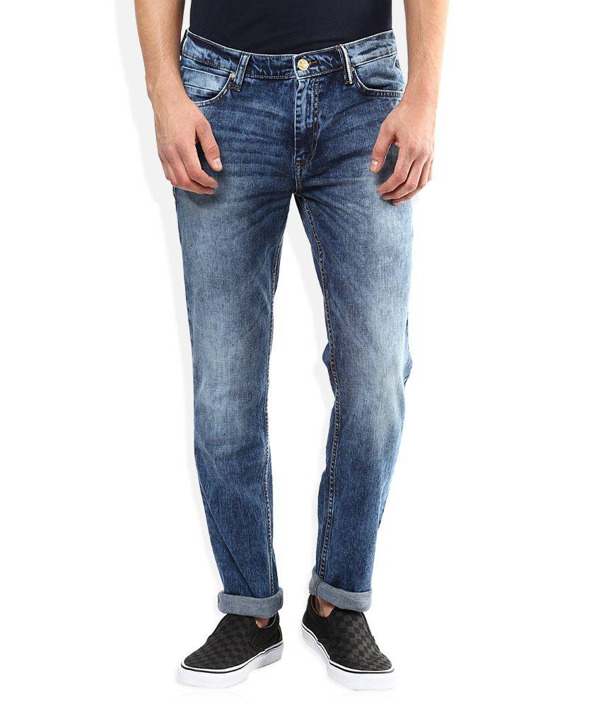 Lee Blue Stone Wash Slim Fit Jeans