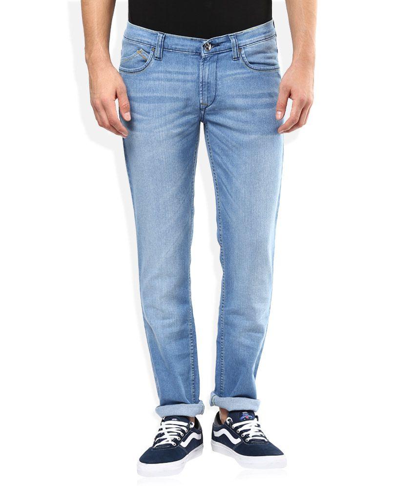 Lee Blue Light Wash Slim Fit Jeans