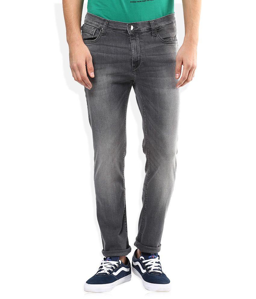 Lee Grey Bruce Skinny Fit Jeans