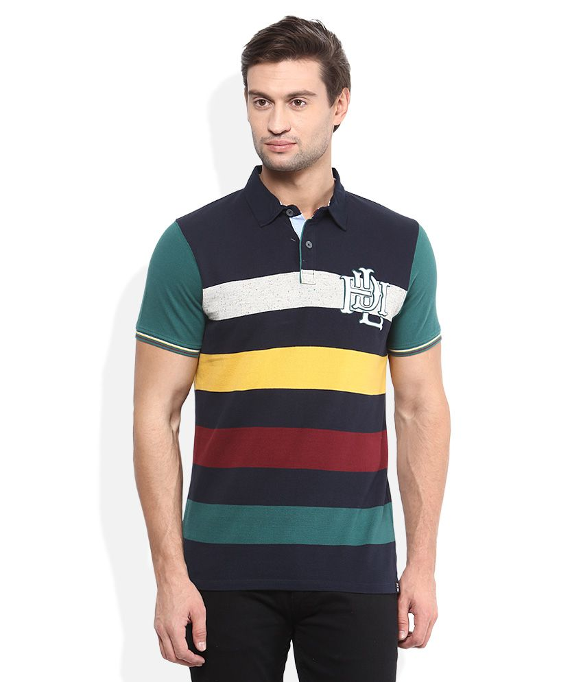 Lee Multicolored Striped Polo T-Shirt - Buy Lee ...