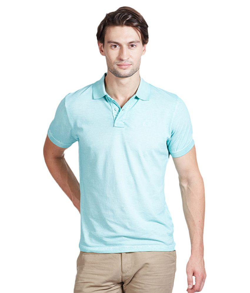 Pepe jeans blue half sleeves solid polo t shirt buy pepe for Denim half sleeve shirt