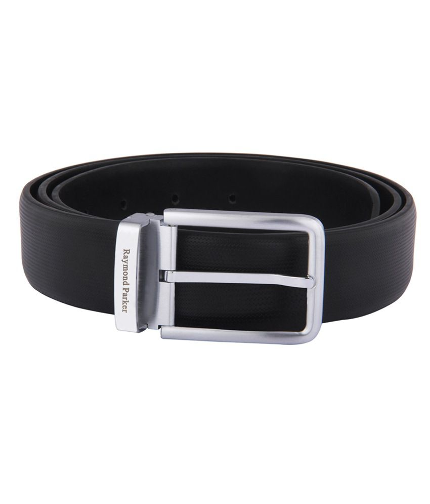Raymond Parker Black Leather Formal Belt