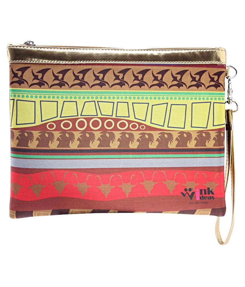 Wink Ideas Multicolour Velvet Clutch