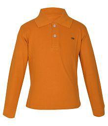 Gkidz Brown Cotton Full Sleeves T-Shirt