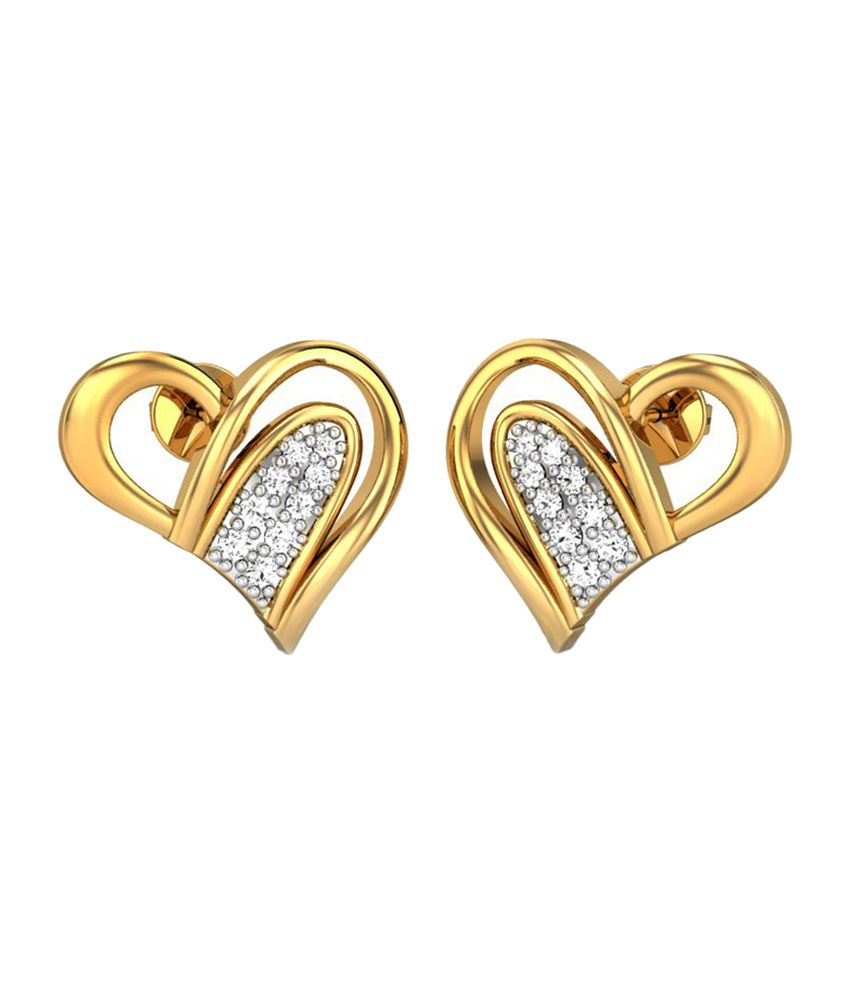 Candere Camilla Yellow Gold 14Kt Diamond Studs