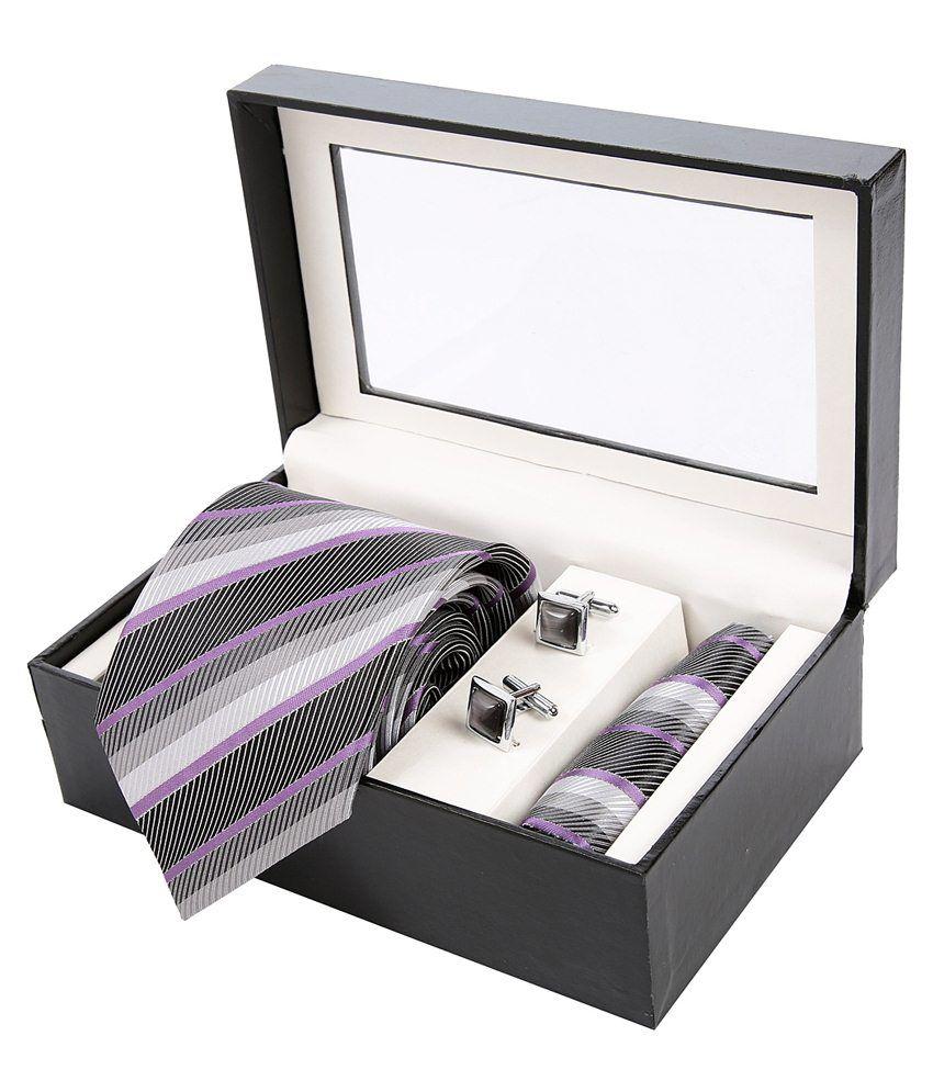 Sir Michele Black Tie Hanky & Cufflink Set