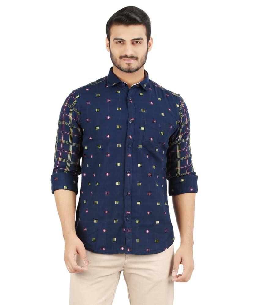 Volume Zero Blue Casual Shirt