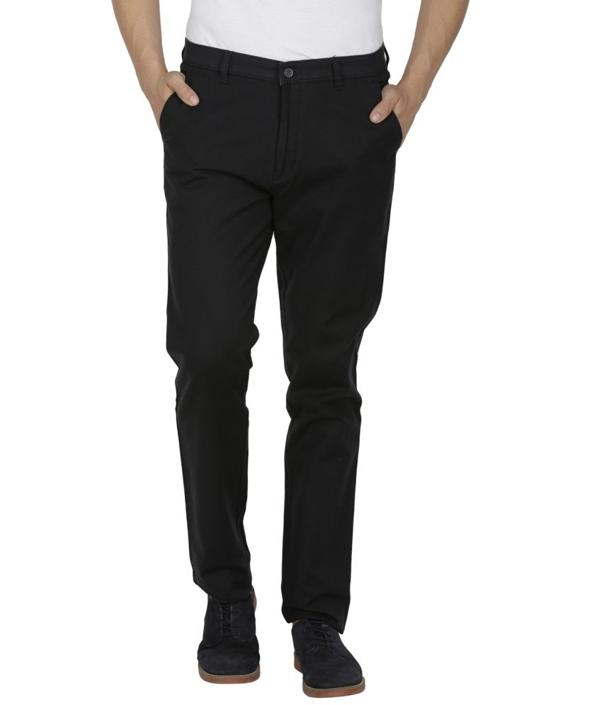 Kingswood Navy Blended Cotton Trousers