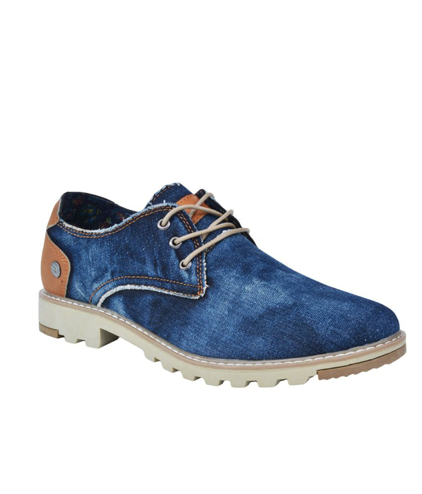 pinellii blue smart casual shoes available at snapdeal for