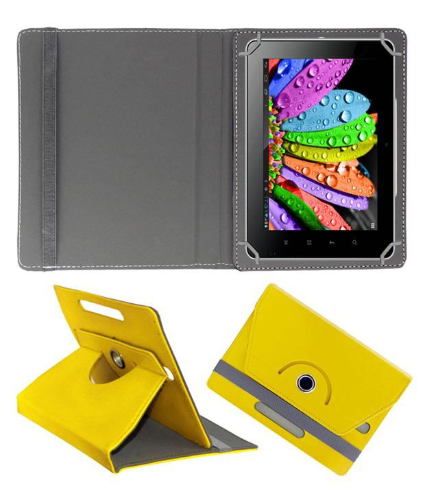 reputable site 374ac e0aaa ACM Back Cover For Micromax Canvas Tab P680 - Yellow