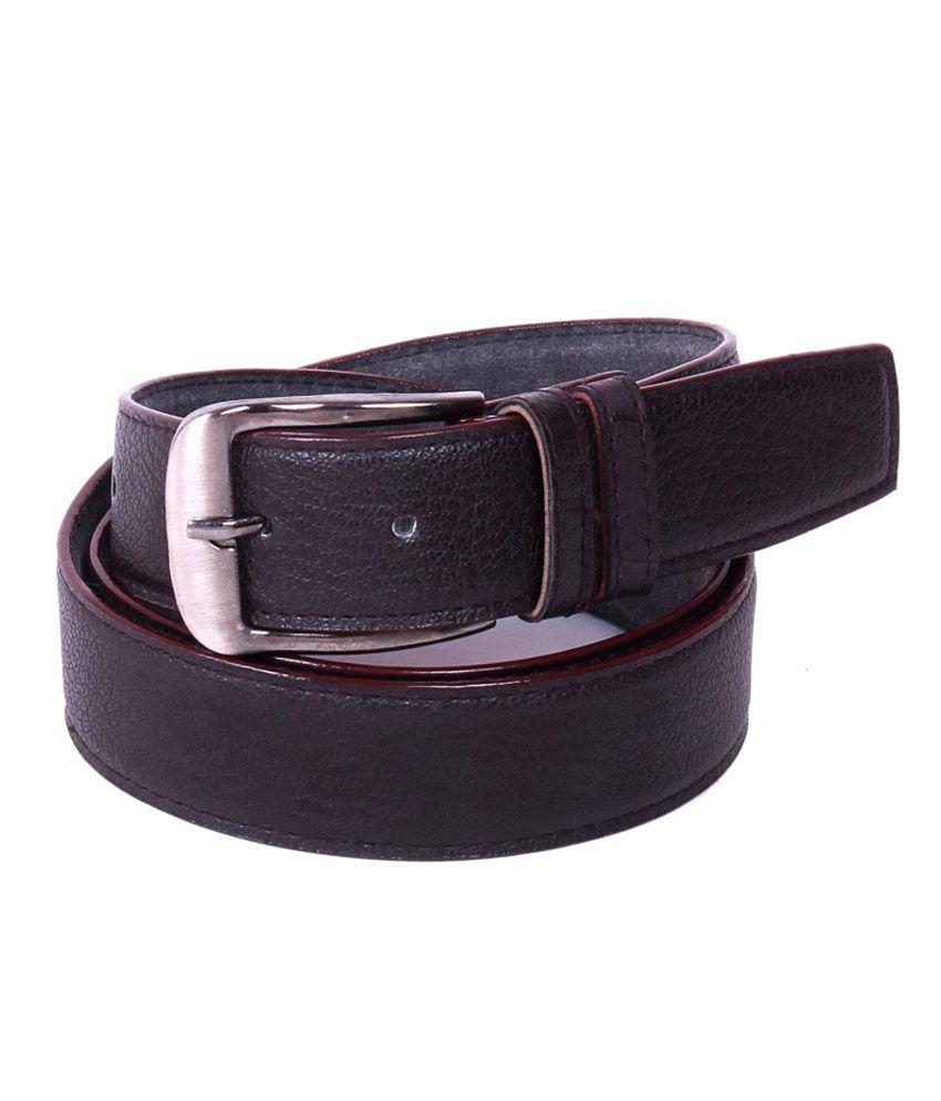 Calibro Brown Formal Single Belt Of Men