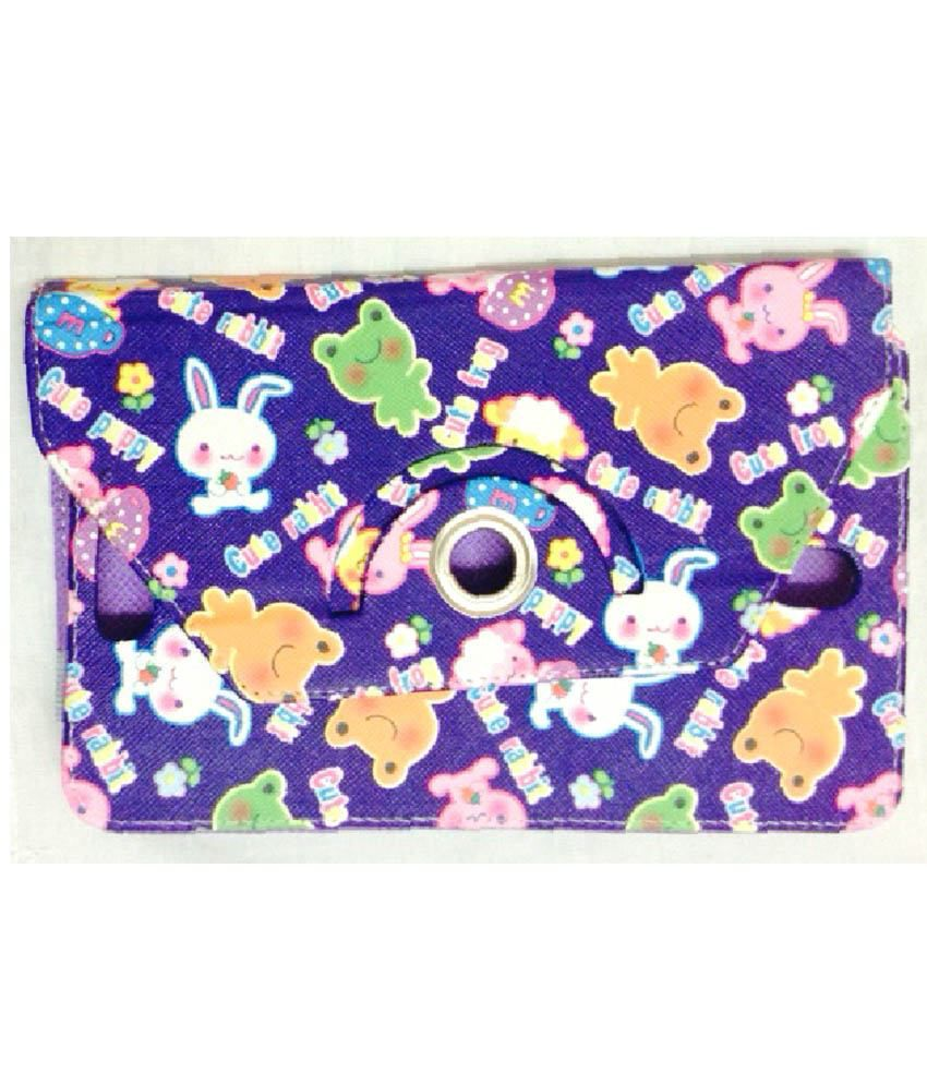 Kolorfame Flip Cover For Micromax Funbook P650E - Purple