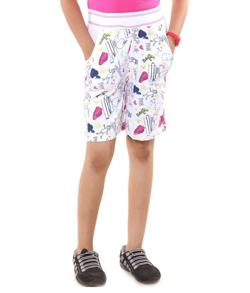 Menthol White Shorts