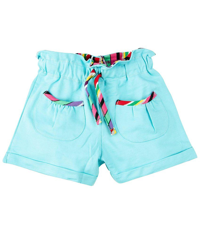 Oye Blue Cotton Shorts