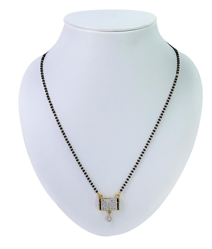 Sarita Golden Brass American diamonds Mangalsutra