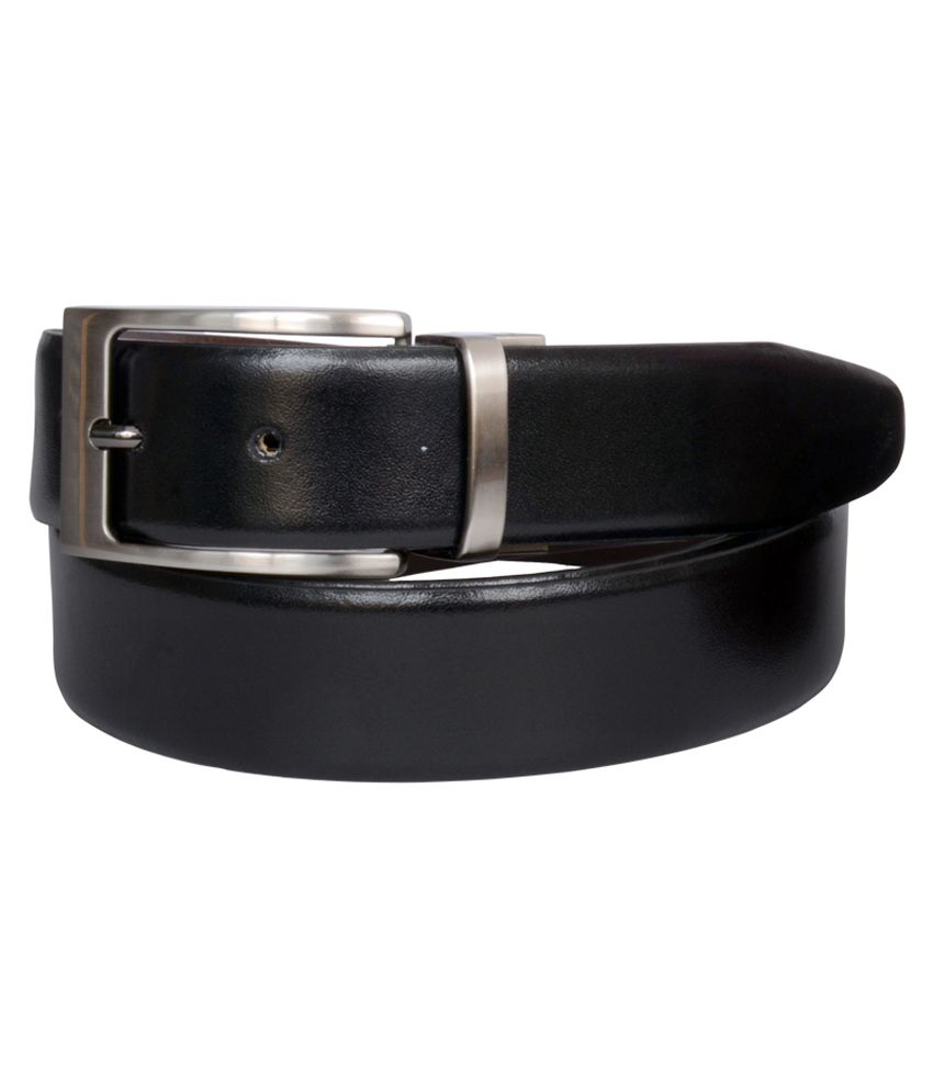 The Brand Stand Black Leather Formal Belt