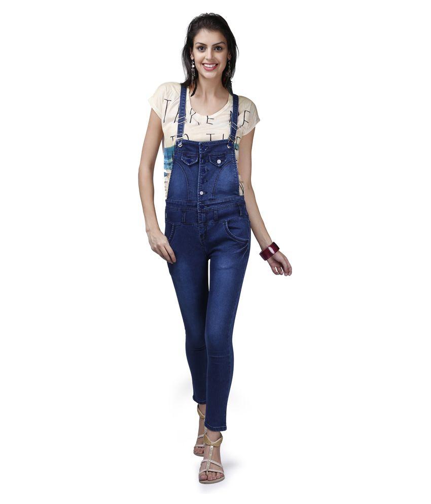 4d2f7683f378 X-POZ Blue Denim Jumpsuits - Buy X-POZ Blue Denim Jumpsuits Online .